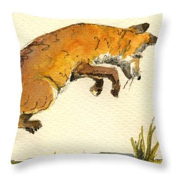 Fox Hunt Throw Pillows