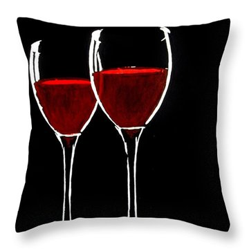 Red Throw Pillow by Kyle  Brock