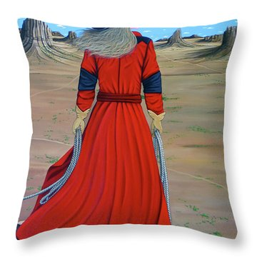 Red Throw Pillow by Lance Headlee