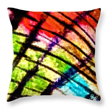 Red Reach Throw Pillow by Joan Reese