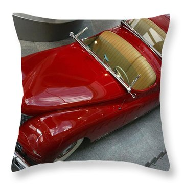 Red Rocket Throw Pillow by Bill Woodstock