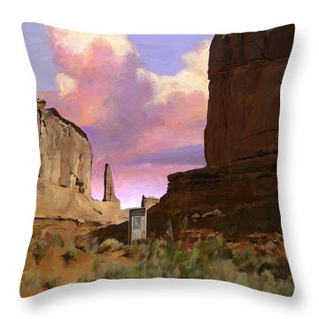 Red Rocks Throw Pillow by Snake Jagger