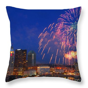 Red White And Boom Photo Throw Pillow