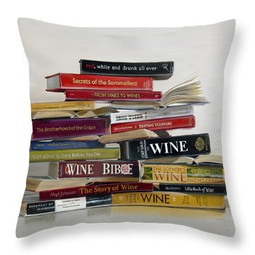 Red White And Drunk All Over Throw Pillow by Gail Chandler