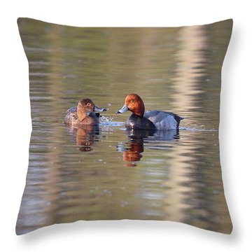 Redhead Pair Throw Pillow