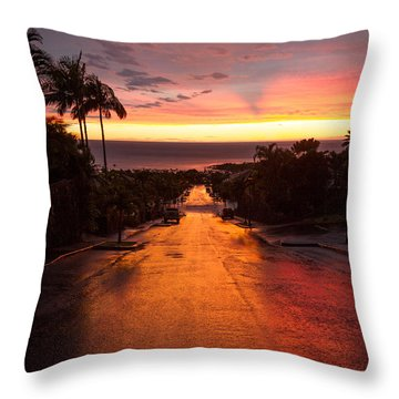 Sunset After Rain Throw Pillow