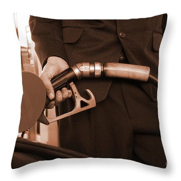 Refuelling Throw Pillow