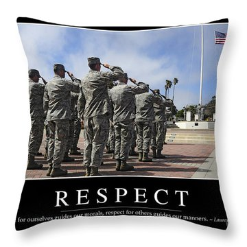 Respect Inspirational Quote Throw Pillow by Stocktrek Images