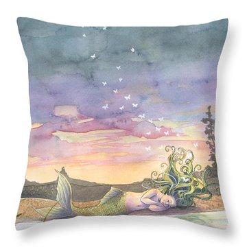 Rest On The Horizon Throw Pillow by Sara Burrier