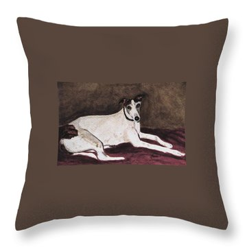 Resting Gracefully Throw Pillow