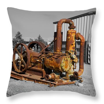 Retired Petroleum Pump Throw Pillow