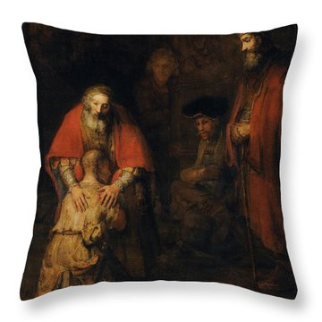 Return Of The Prodigal Son Throw Pillow