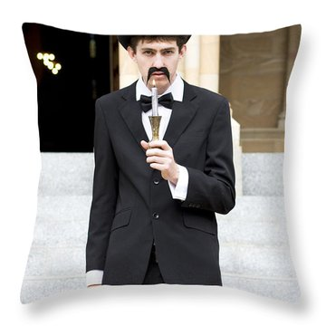 Reverend With The Candle Stick Throw Pillow