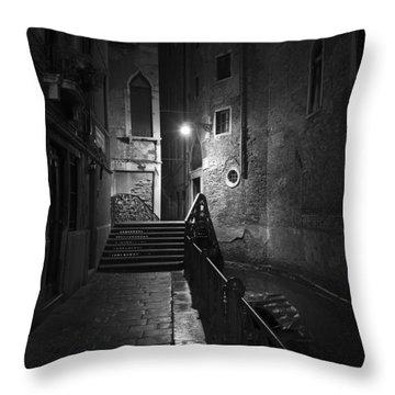 Throw Pillow featuring the photograph Rio De San Maurizio by Marion Galt