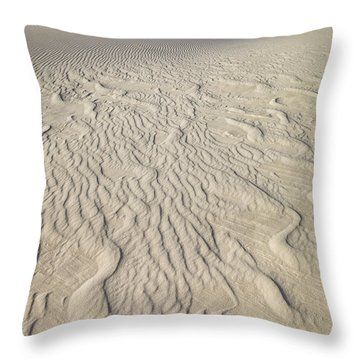 Ripple Dunes At White Sands Throw Pillow