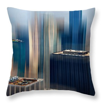 Rising Metropolis Throw Pillow