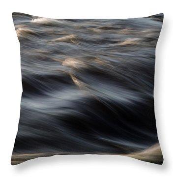 River Flow Throw Pillow by Bob Orsillo