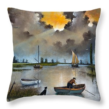 River Yare On The Broads Throw Pillow