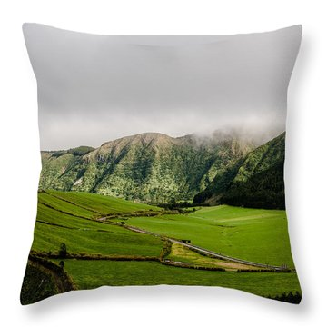 Road Over Valley Throw Pillow