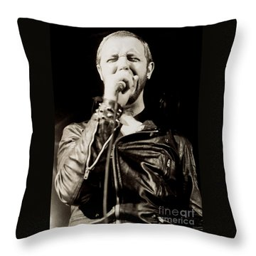 Rob Halford Of Judas Priest At The Warfield Theater During British Steel Tour - Unreleased  Throw Pillow