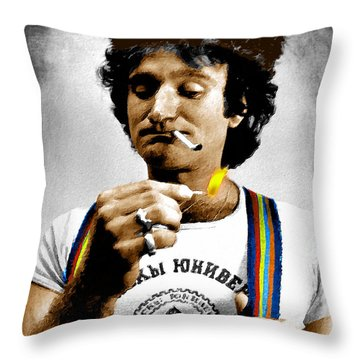 Robin Williams And Quotes Throw Pillow