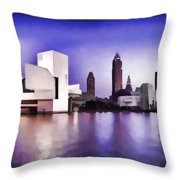 Throw Pillow featuring the photograph Rock And Roll Hall Of Fame - Cleveland Ohio - 3 by Mark Madere