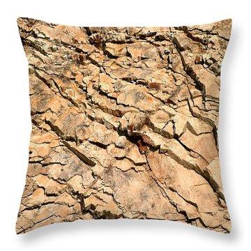 Throw Pillow featuring the photograph Rock Wall by Henrik Lehnerer