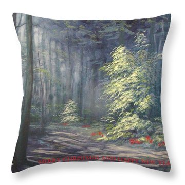 Roena King - Christmas Light Throw Pillow