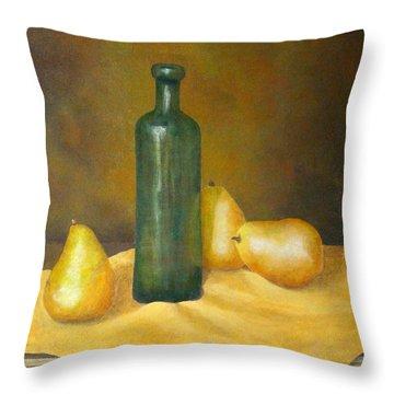 Roman Table Throw Pillow by Pamela Allegretto