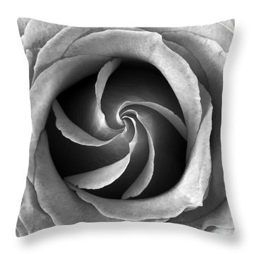 Rose Center Throw Pillow