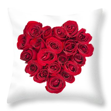 Rose Heart Throw Pillow by Elena Elisseeva