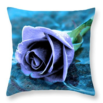 Rose In Water  Throw Pillow