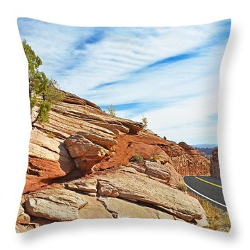 Route 12 - Utah Throw Pillow