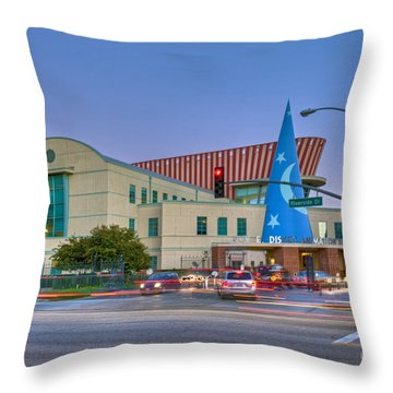 Roy E. Disney Animation Building In Burbank Ca. Throw Pillow by David Zanzinger