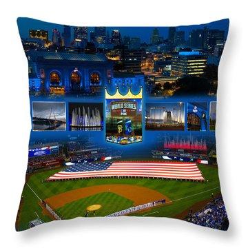 A Royal Blue Kansas City  Throw Pillow