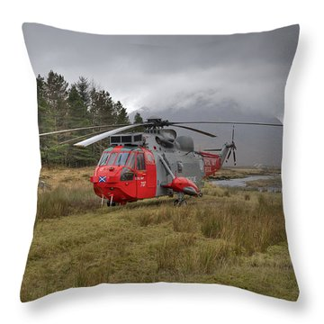 Royal Navy Sar Sea King Xz920 Glencoe Throw Pillow