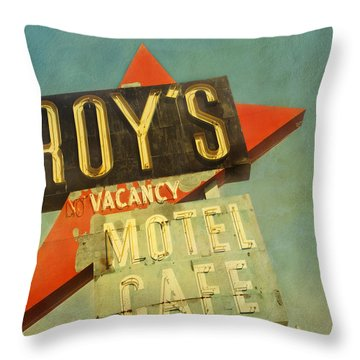 Roy's Motel And Cafe Throw Pillow