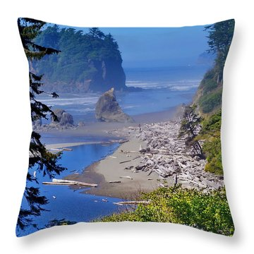 Ruby Beach Throw Pillow