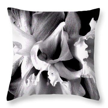 Ruffled Daffodils  Throw Pillow