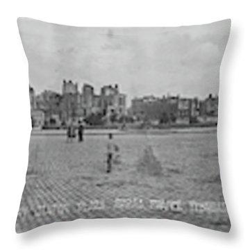 Ruins Of Plaza Arras France Aef12 Throw Pillow