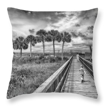 Running Throw Pillow by Howard Salmon