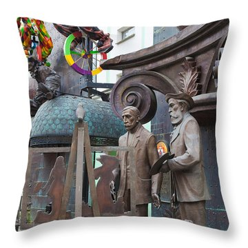 Russian Super-artist Sculptures, Zurab Throw Pillow by Panoramic Images