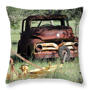 Rust In Peace No. 2 Throw Pillow