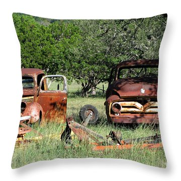 Rust In Peace No. 3 Throw Pillow