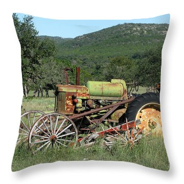 Rust In Peace No. 4 Throw Pillow