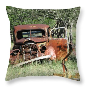 Rust In Peace No. 5 Throw Pillow