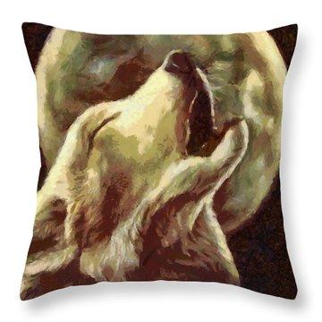 Throw Pillow featuring the painting Sadness by Georgi Dimitrov