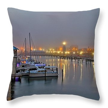 Safe Harbor Throw Pillow by Brian Wright