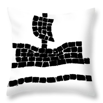 Sail Boat Throw Pillow by Gaspar Avila
