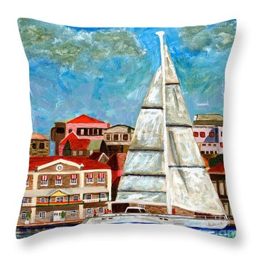 Sailing In Throw Pillow